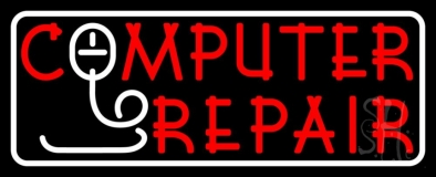 Computer Repair With Mouse LED Neon Sign