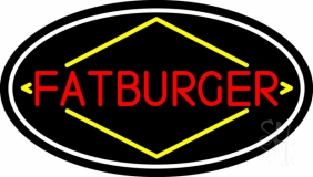 Fatburger Oval LED Neon Sign