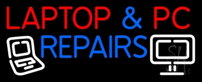 Laptop And Pc Repairs LED Neon Sign