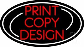 Print Copy Design Oval LED Neon Sign