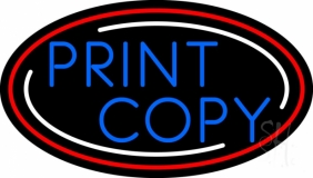 Print Copy Oval With Border LED Neon Sign