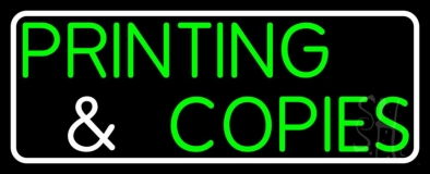 Printing And Copies LED Neon Sign