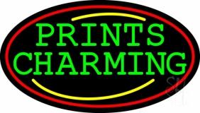 Prints Charming Oval Border LED Neon Sign