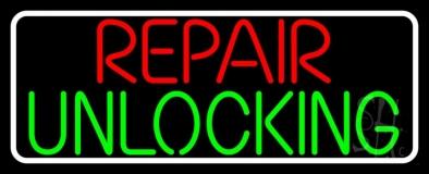 Repair Unlocking Border LED Neon Sign