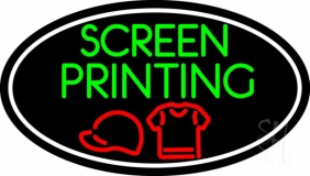 Screen Printing with Oval LED Neon Sign