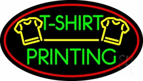 Tshirt Printing Red Oval LED Neon Sign