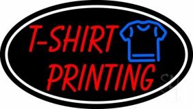 Tshirt Printing White Oval LED Neon Sign