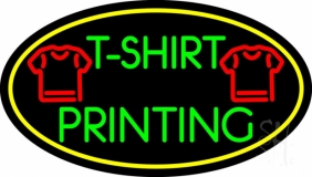 Tshirt Printing with Oval LED Neon Sign