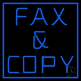Blue Fax And Copy 1 LED Neon Sign