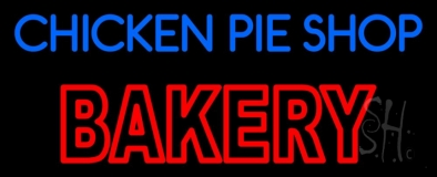 Chicken Pie Shop Bakery LED Neon Sign