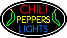Chili Pepper Lights Oval LED Neon Sign