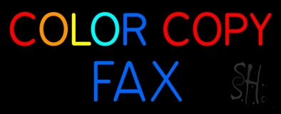 Color Copy Fax 1 LED Neon Sign