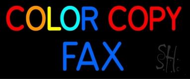 Color Copy Fax 2 LED Neon Sign