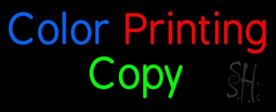 Color Printing Copy LED Neon Sign
