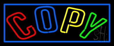 Double Stroke Multi Colored With Border LED Neon Sign