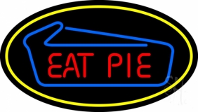 Eat Pie Oval LED Neon Sign