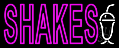 Pink Double Stroke Shakes LED Neon Sign