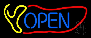 Red Chili Open LED Neon Sign