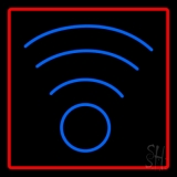 Blue Colored Wifi Logo LED Neon Sign