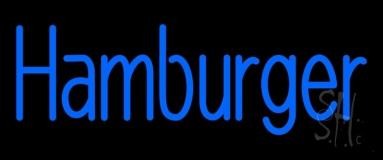 Blue Hamburger LED Neon Sign