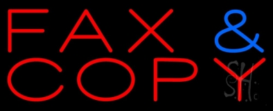 Fax Copy 3 LED Neon Sign