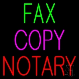 Fax Copy Notary 1 LED Neon Sign