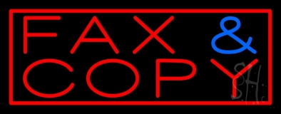 Fax Copy With Border 2 LED Neon Sign
