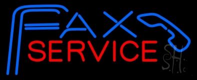 Fax Service With Logo 2 LED Neon Sign