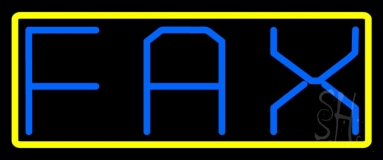 Fax With Yellow Border 1 Neon Sign