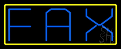 Fax With Yellow Border LED Neon Sign