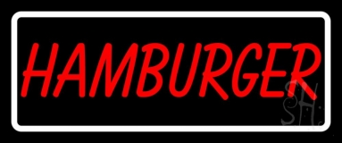 Hamburger With Border LED Neon Sign