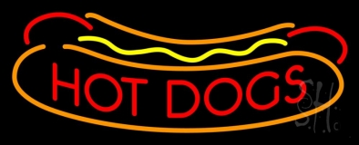 Red Hotdogs Logo LED Neon Sign