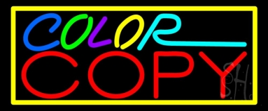 Multi Colored Color Copy With Border 2 LED Neon Sign