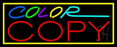 Multi Colored Color Copy With Border LED Neon Sign