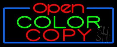 Open Color Copy 2 LED Neon Sign