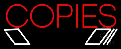 Red Copies Logo LED Neon Sign