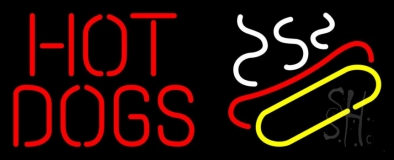 Red Hot Dogs Logo LED Neon Sign