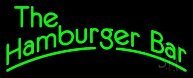 Green The Hamburger Bar LED Neon Sign