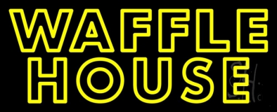 Yellow Double Stroke Waffle House LED Neon Sign