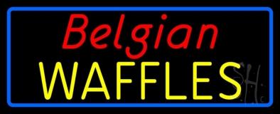 Belgian Waffles LED Neon Sign