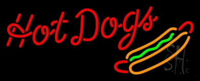 Cursive Red Hotdogs LED Neon Sign