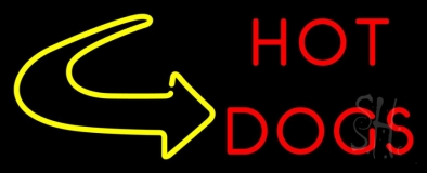 Hot Dogs With Arrow 1 LED Neon Sign