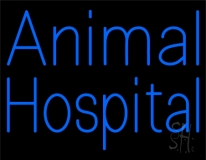 Blue Animal Hospital LED Neon Sign