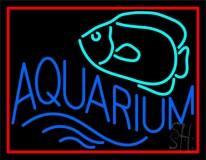 Aquarium Fish Logo with Border LED Neon Sign