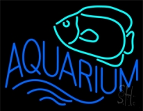 Aquarium with Fish Logo LED Neon Sign