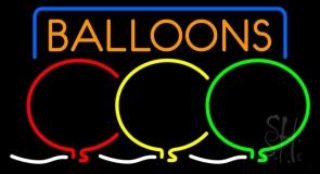 Balloon Block Colored Logo LED Neon Sign