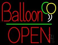 Balloon Open Block Green Line LED Neon Sign