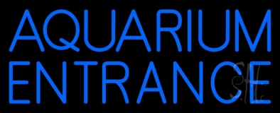 Blue Aquarium Entrance LED Neon Sign