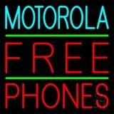Blue Motorola Red Free Phone 2 LED Neon Sign