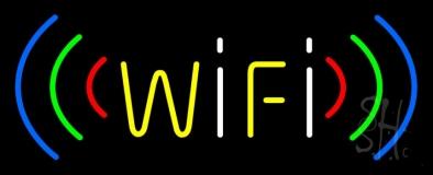 Blue Wifi Hot Spot Block 1 LED Neon Sign